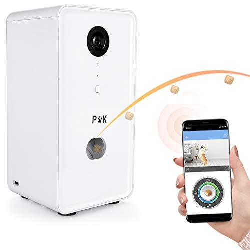 PUPPY KITTY Smart Hundekamera, Full-HD-WiFi-Haustierkamera und Leckerbissen-Spender,Automatische Futterautomat für Katzen und Hunde,165 ° Vollraumsicht, Nachtsicht und Zwei-Wege-Audiokommunikation
