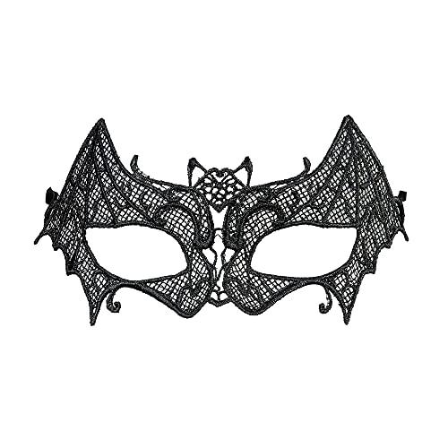 Widmann 04741 - Augenmaske Fledermaus aus Spitze, Maskenball, Mottoparty, Karneval