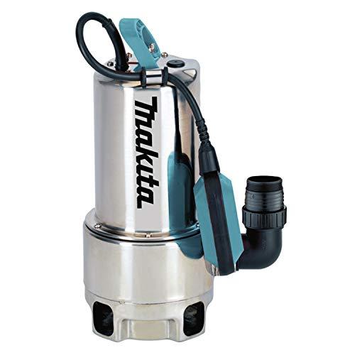 Makita PF1110 elektrische dompelpomp, vuilwater tot 35 mm deeltjesgrootte, roestvrij staal, 1100 W
