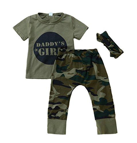 Anywow 2 stücke Säugling Kleinkind Baby Jungen Mädchen Brief T-Shirt Tops Camo Hosen Böden Kleidung Set,Camouflage B#2,12-18 Monate (Tag 90)