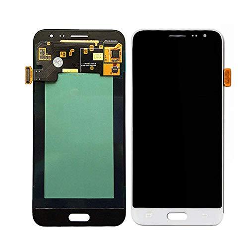 TXYFYP LCD y Táctil Pantalla, Pantalla LCD Pantalla Digitalizador Táctil Recambio para Samsung J3 2015 2016, Pantalla LCD Recambio Pieza de Reparación - Blanco, Free Size