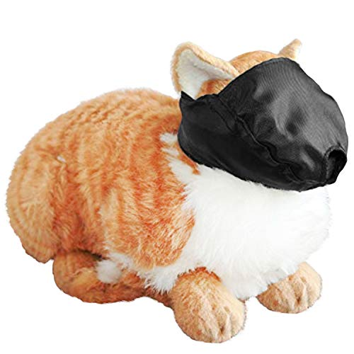 Cat Muzzle - MEDIUM fits cats 6 - 12 lbs - BLACK, by Downtown Downtown Pet Supply