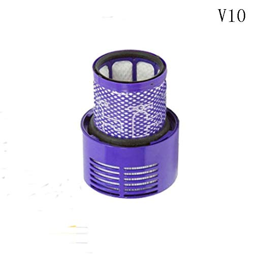 IUCVOXCVB Accesorios de aspiradora Ajuste para Dyson V6 V7 V8 V10 SV12 V11 SV14 Filtro HEPA Accesorios Lavables Robot Absoluto Reemplazo de recambios de Repuesto (Color : V10)