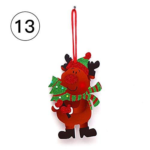 Brownrolly Kerstdecoratie, schuim, sneeuwpop, bel, Santa, Frohe Kerstmis, dag biedt deur raam, muur huis ornamenten decoratie