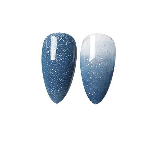 Cuteelf Nagel Puder Set Maniküre Pulver für Nagel Design mit Spiegel und Holo Effekt, Meerjungfrauen Nagellack, Perlen Glanz Schimmer