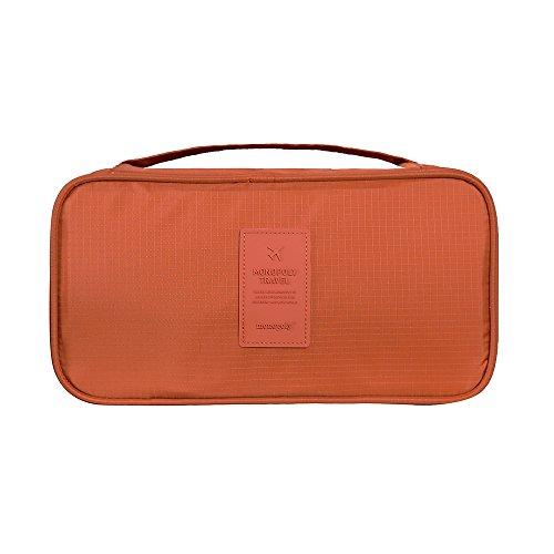 【MONOPOLY 公式】正規品 MONOPOLY GRAND UNDERWEAR POUCH dark orange グランドアンダーウェアーポーチ 下着ポーチ 収納 防水 トラベルポーチ (DARK ORANGE) [並行輸入品]