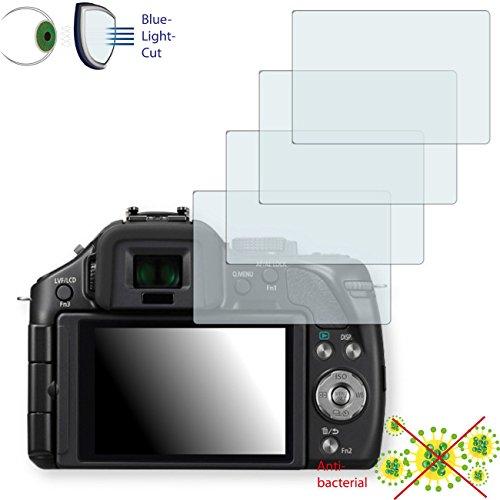 4 x Disagu ClearScreen pellicola protettiva schermo per Panasonic Lumix DMC-G5 – antibatterico luce Bluel Filtro di protezione