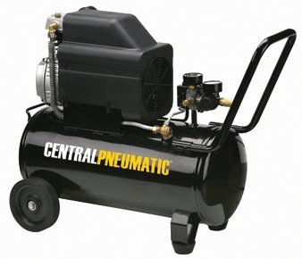 Central Pneumatic 2 HP, 8 Gallon, 125 PSI Portable Air Compressor