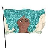 GOSMAO Bandera de jardín, Bandera de Mujer Acuario, Color Vivo y Resistente a la decoloración de Rayos UV, Bandera de Patio de Doble Costura, Bandera de Temporada, Banderas de Pared, 150 x 90 cm