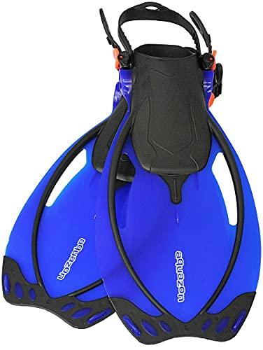 AQUAZON Sidney Verstellbare Flossen für Kinder und Jugendliche, Farbe:Blue, Größe:32/37