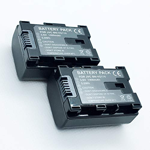 Rechargeable 2 Battery Pack For JVC Everio GZ-HM35BU, GZ-HM40BU, GZ-HM65BU HD Flash Memory Camcorder