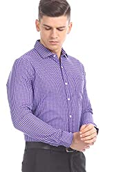 Excalibur by Unlimited Mens Plain Regular Fit Formal Shirt