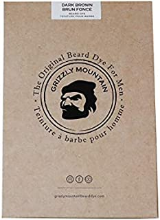 Grizzly Mountain Beard Dye - Organic & Natural Dark Brown Beard Dye