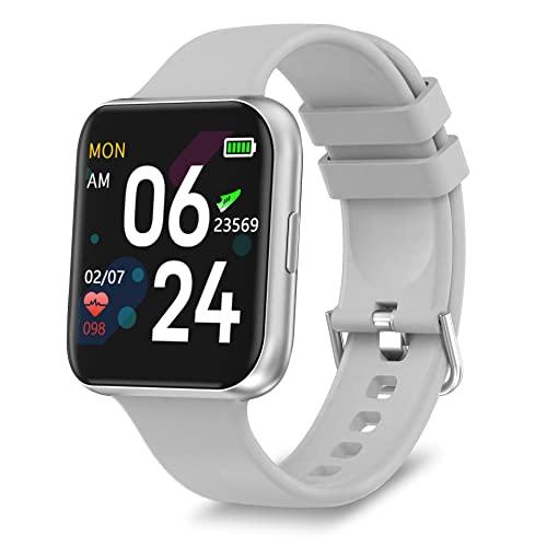 Smart Watch per Telefono Android e iPhone, GROJAT Bluetooth Fitness Tracker, Sensore Incorporato per...
