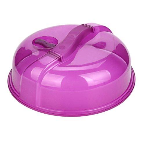 YJYdada Microwave Food Cover Plate Vented Splatter Protector Clear Kitchen Lid Safe Vent (A)