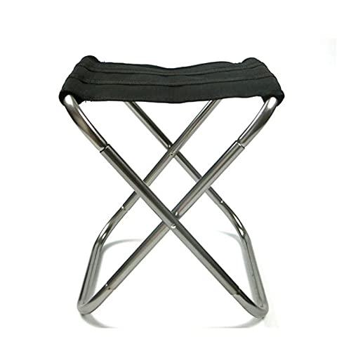 Kettles Tragbarer Klappstuhl Hocker Kleine Faltbare Aluminium-zusammenklappbare Lager Mini Lightweight-Legierung für Kinder Erwachsene im Freien Camping Picknickfischen
