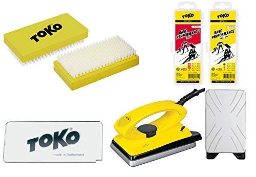 Toko Skiwachs-Set 5-teilig mit Wachsbügeleisen - für Alpin + Nordic + Board
