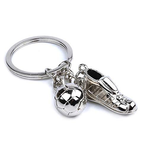 Yisily Arbeiten Sie kreative Fußball-Turnschuh Keychain Geldbeutel-Hand Keyring Metall Solidee Anhänger Schlüsselanhänger