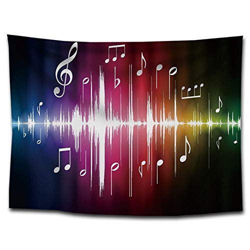 Tapices Tapiz De Tela con Estampado De Arte De Música Nórdica, Tapiz para El Hogar con Impresión Digital En 3D, Decoración del Hogar De La Sala De Estar del Dormitorio, como Se Muestra, 150 Cm