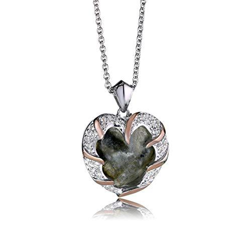 Clogau Womens Labrodite Topaz 925 Sterling Silver Dinas Emrys Pendant 22' Chain