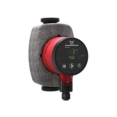 Grundfos Pompe circulatrice 32-80 1 x 230 V pour systèmes de Chauffage et de climatisation modèle Alpha2, 14 x 11 x 18 cm, Couleur Noire (référence : 99411263)