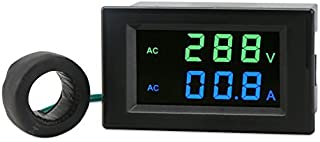AC Current Meter, DROK 80-300V 100A Digital Multimeter Voltmeter Ammeter, LCD Display Voltage Amperage Detector Volt Amp Tester Monitor Gauge Panel with Current Transformer CT
