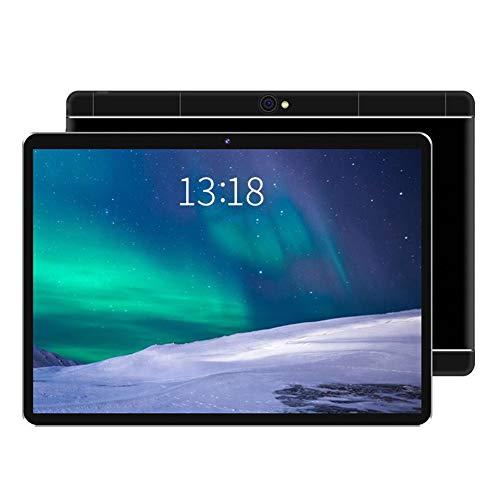 ELLENS Tablet PC con 32 GB de Almacenamiento, Android 9.0 de 10 Pulgadas, Ranuras para Tarjetas SIM y cámara Dual, WiFi, Bluetooth, GPS (Negro, Plateado)