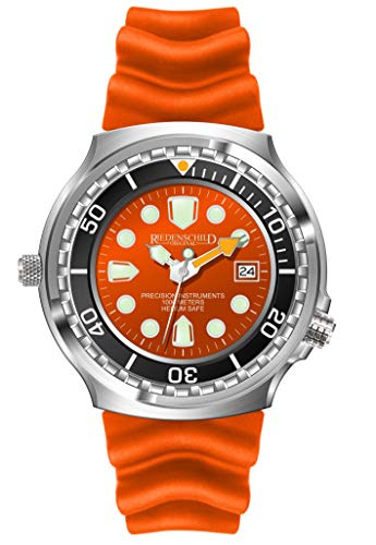 Riedenschild Armee Taucher Herrenuhr Orange 1000M Citizen 1S13 Helium Ventil Datumsanzeige