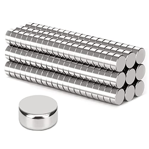 LEASEN 180pcs Small Magnets,Round Refrigerator Magnets,Small Cylinder Fridge Magnets,Office Magnets,Whiteboard Magnets,Durable Little Miniature Tiny Mini Magnets for Crafts