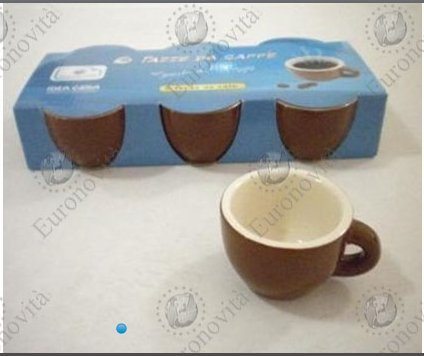 EURONOVITA SET CAFFE' TAZZINE X6 BASSE