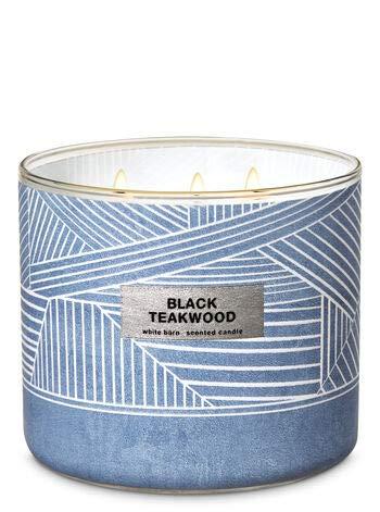White Barn Bath & Body Works 3 Wick Candle Black Teakwood