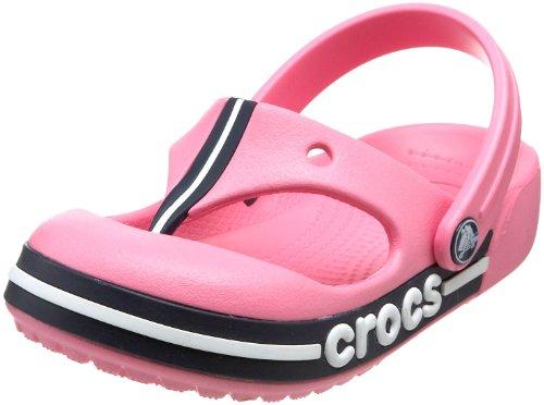 Crocs Crocband Toe Bumper Flip, Unisex - Kinder Zehentrenner, Rosa (Rose limonade/marine), 29/31 EU