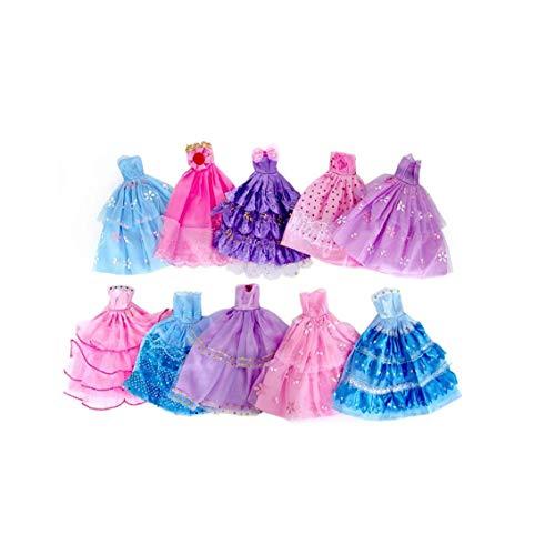 Ropa De La Muñeca Color Azar Muñeca del Estilo De Vestido Hecho a Mano del Vestido De La Novedad para Los Regalos De Boda Vestido De Noche del Partido De La Muñeca De La Falda para Niños