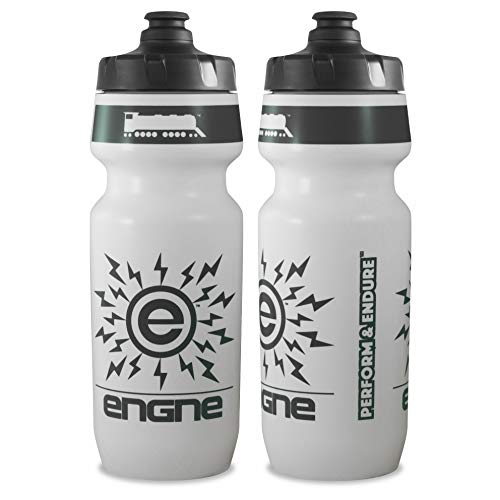 NGN Sport - High Performance Bicycle | Bike Water Bottle for Triathlon, MTB, and Road Cycling - 24 oz (2-Pack) (White/ Charcoal Gray (2-Pack))