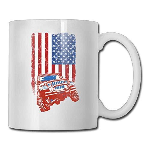 N\A Jeep & Flagge Kaffeetassen Büro Geschenk Keramik Teetasse Kaffeetasse Familie & Fre&e?