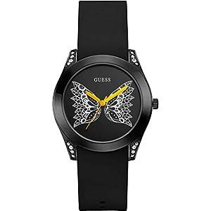 GUESS Reloj Analógico para Mujer de Cuarzo con Correa en Silicone W0023L10