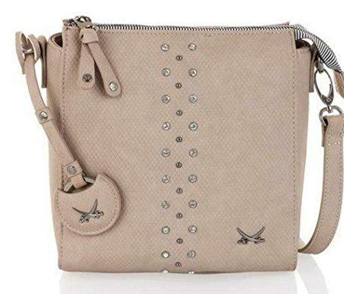 Sansibar Damen Crossover Bag Handtasche Umhängetasche Taupe