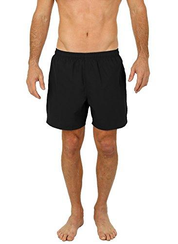 UZZI Men's Long Basic Active Shorts Activewear Trunks 1817 Black 2XL