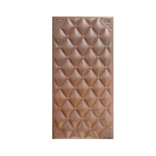 Jitong Créatif Décor Stickers Muraux Vintage Mousse Anti-Collision Papier Peint Élégant 3D Wallpaper pour Chambre Salon Maternelle (#3 Café, 30 * 60 * 1.8cm)