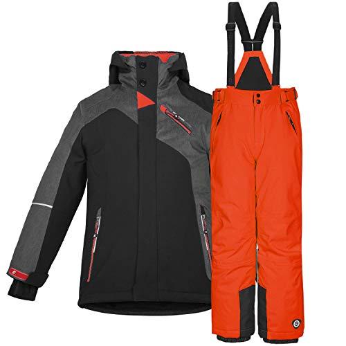 Killtec Kinderskianzug, zweiteilig Skijacke + Skihose (orange, 164)