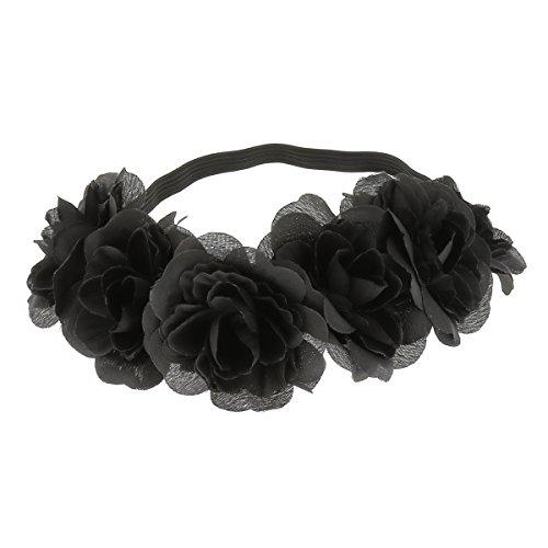 Haarband Blumen-11Farben-Uni und Flagge-Haarband-Krone Blumen-Haar-Accessoires
