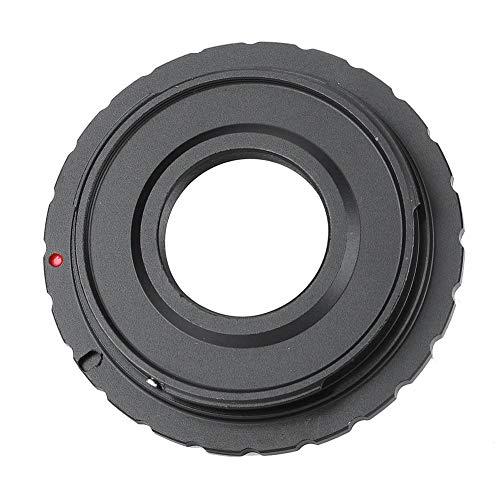 Anello adattatore per obiettivo con attacco C, per Canon, fotocamera EOS, controllo manuale, convertitori per fotocamere in lega di alluminio completamente manuali Messa a fuoco ed esposizione Durevol