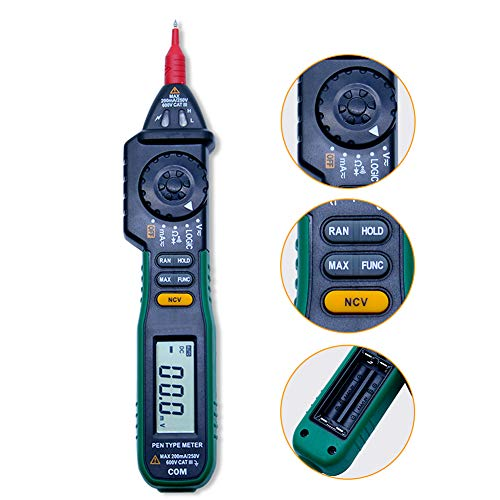 Pluma Tipo multímetro digital, exhibición sin contacto de AC DC Corriente Tensión Tester Digital prueba del lápiz
