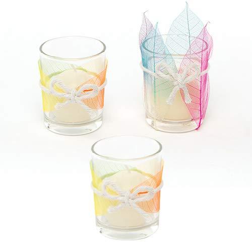 Baker Ross Kerzenhalter aus Glas (6 Stück) Bastelspaß - zum Dekorieren und Verzieren mit Glasmalstiften und Aufklebern