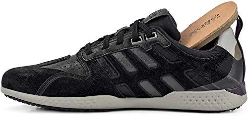 Geox Hombre mínimo Snake.2, de Caballero Zapatillas,Zapatos Deportivos,Zapatillas con Cordones,Transpirable,Calzado,Sneaker,Black/Stone,40 EU /...
