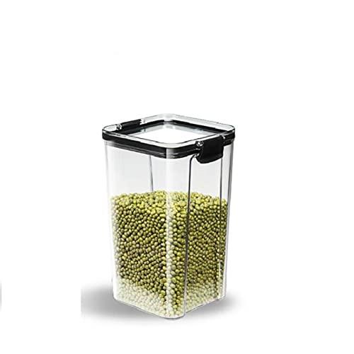 4 latas selladas de plástico de diferentes capacidades, caja de almacenamiento transparente de alimentos conservan el envase fresco y claro