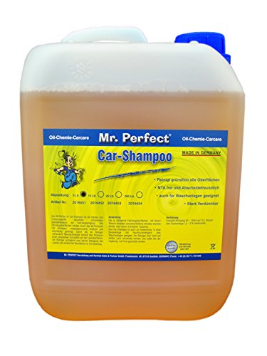 Mr. Perfect® Autoshampoo, 5L - Konzentrat für Fahrzeug-Reinigung mit Abperleffekt