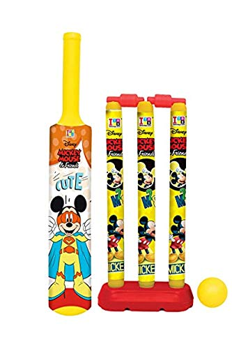 MANAKI ENTERPRISE Cricket Kit Set for Kids 3 Stumps with 1 Bat and 1 Ball for Playing Perfect Cricket Combo Set ( 18 inch.Cricket Set)
