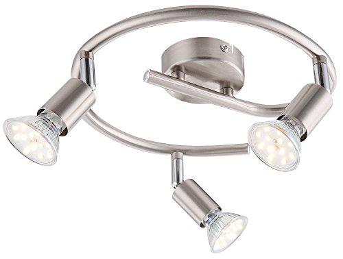 3-flammige 9W LED Deckenlampe Spot Rondell Leuchte Esszimmer Küche Globo Matrix 57991-3