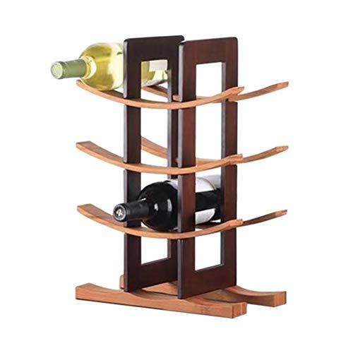 WNDRZ Estante De Madera para Vino Tinto, Moderno Y Simple, Estante De Almacenamiento De Vino De Madera, Soporte De Botella De Vino De Madera Maciza Natural para Cocina/Dinging